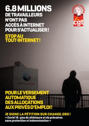 chômeurs CGT : pétition coronavirus