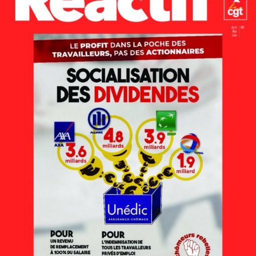 Réactif - trimestriel du comité chômeurs CGT - Socialisation des dividendes - n°100