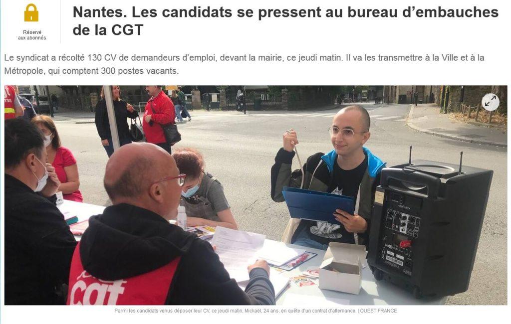 bureau d'embauche cgt Nantes